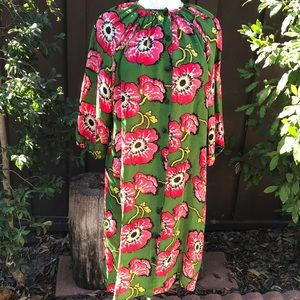 Tucker Floral Dress Lime and Pink